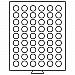 Leuchtturm Münzbox mit 54 Fächer mit 26mm Ø für 2€ Münzen grau N