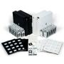 Leuchtturm Münzrähmchen Matrix schwarz 17,5-39,5mm per 25 Stück