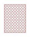 Lindner Münzenbox mit 80 runden Vertiefungen Nr. 2980 rauchfarbe