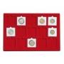 Lindner Tableau für 15 Münzenrähmchen 50x50mm Nr. 2329-15
