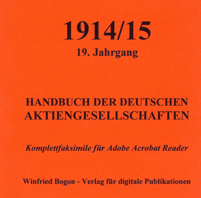 Handbuch der Deutschen Aktiengesellschaft 19. Jahrgang 1914/15 C