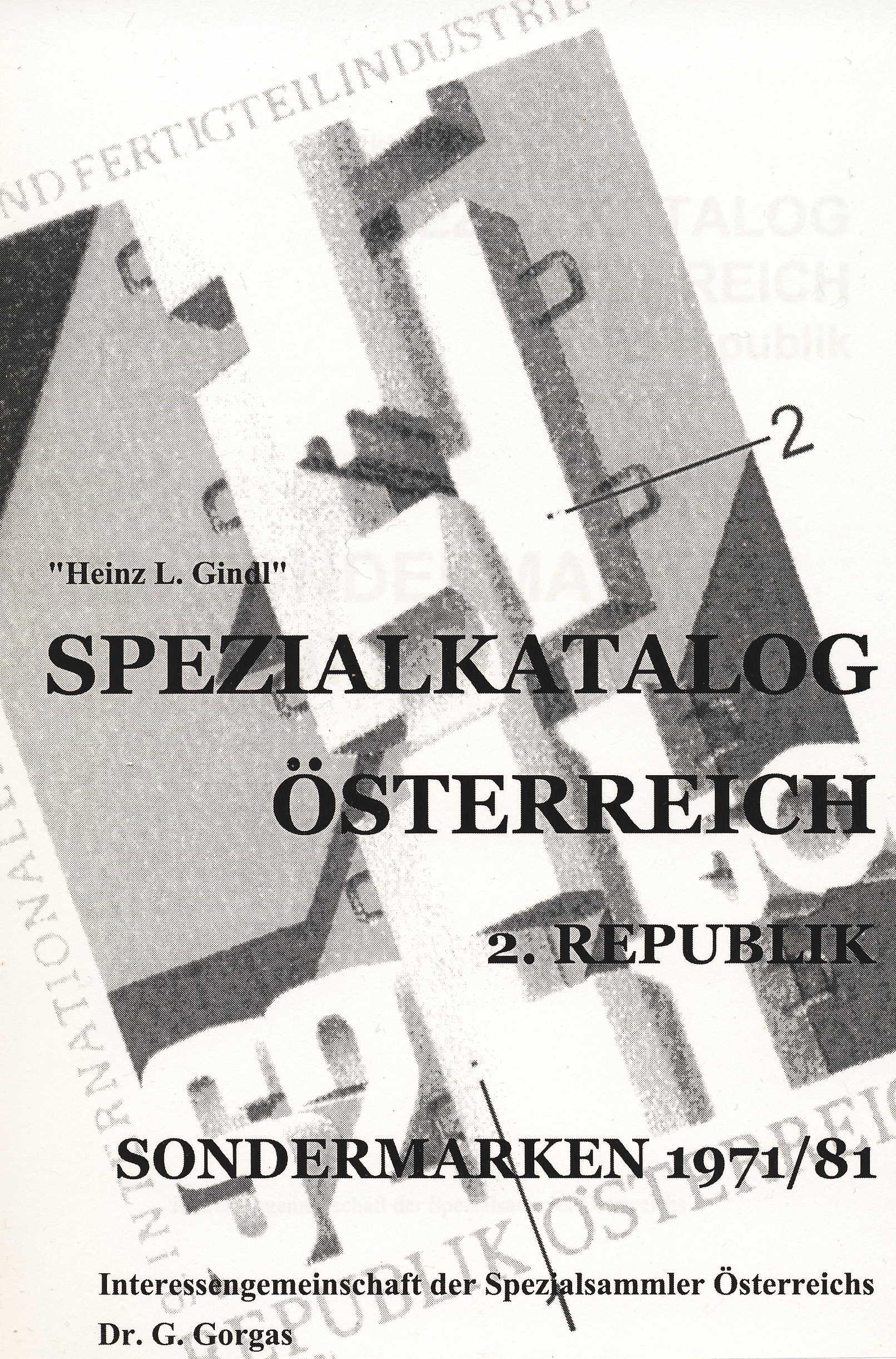ÖSTERREICH GINDL-Plattenfehler-Katalog Sondermarken 1971-1981
