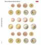Lindner Vordruckblatt für 3 EURO-Kursmünzen-Sätze Monaco Nr. 110