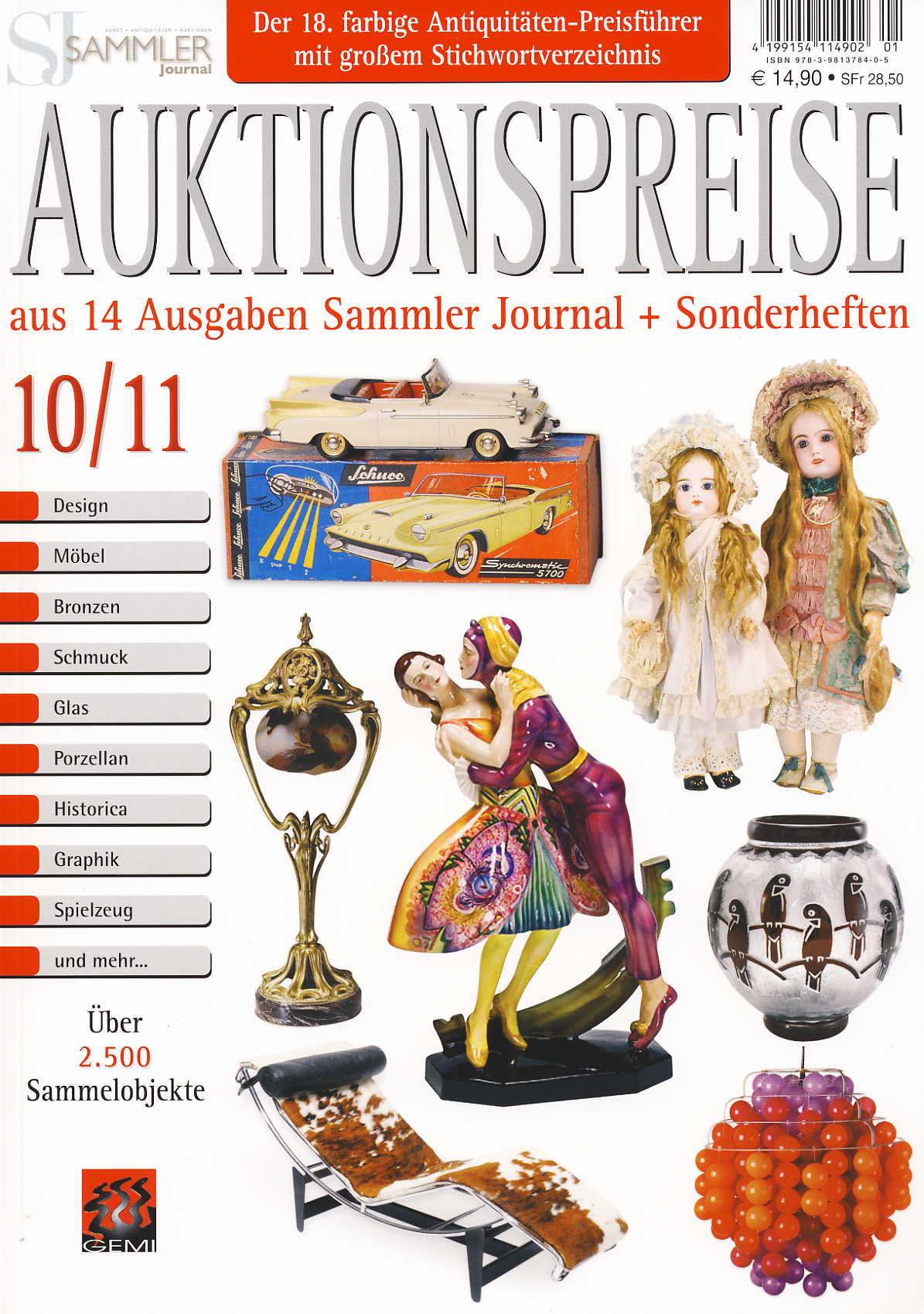 Sammler Journal Auktionspreise 10/11 aus 14 Ausgaben Sammler-Jou
