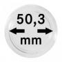 Lindner Münzkapseln Innen-Ø 50,3 mm, Innenhöhe 8,5 mm, 10er-Pack