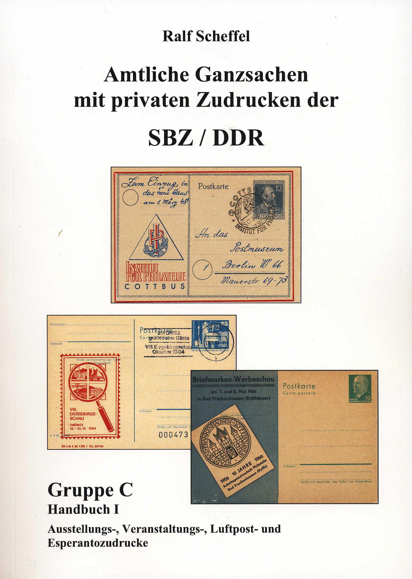 Scheffel Katalog Amtlicher Ganzsachen mit privaten Zudrucken der