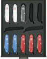 LINDNER Sammel-/Präsentationsbox für 12 schweizer Taschenmesser