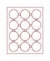 Lindner Münzenbox mit 12 runden Vertiefungen bis 63mm Ø Nr. 2912